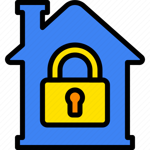 building, estate, home, house, locked, property, real icon