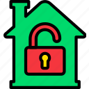 building, estate, home, house, property, real, unlocked icon