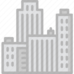 building, city, estate, house, property, real icon