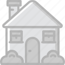 building, estate, house, property, real icon