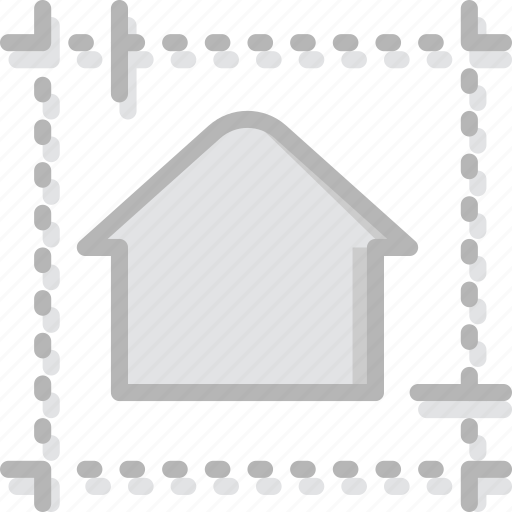 blueprint, building, estate, house, property, real icon