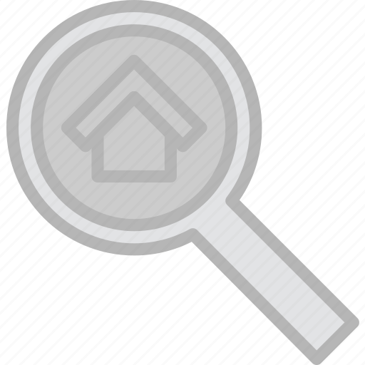 building, estate, house, property, real, search icon