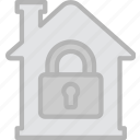 building, estate, house, locked, property, real