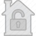 building, estate, house, property, real, unlocked icon