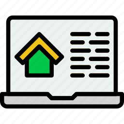 browsing, building, estate, house, property, real icon