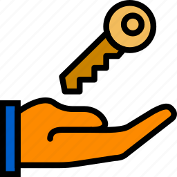 building, estate, house, key, property, real icon