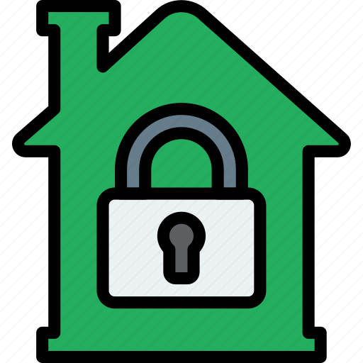 building, estate, house, locked, property, real icon