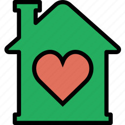 building, estate, house, like, property, real icon