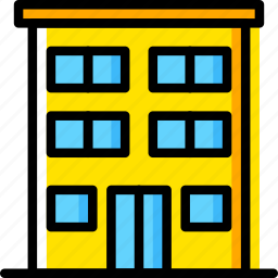 appartments, building, estate, house, property, real icon