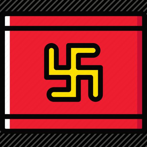 church, flag, nazist, pray, religion icon