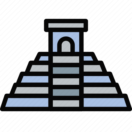 church, mayan, pray, pyramid, religion icon