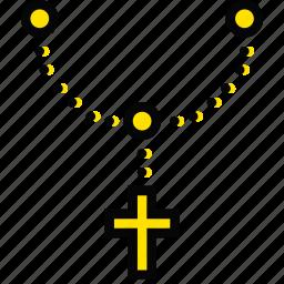church, pray, religion, rosary icon