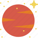 asteroid, galaxy, hot, planet, red, space, venus icon