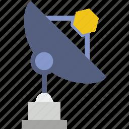 aliens, dish, nasa, radio, search, seti, telescope icon