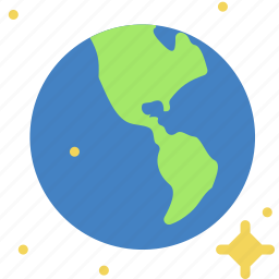continent, earth, life, oceans, planet, space icon