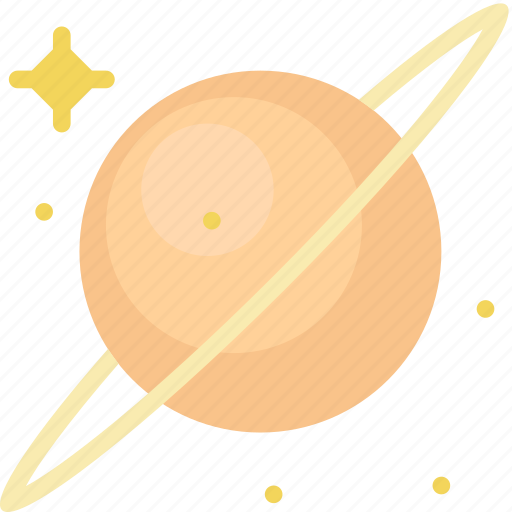 asteroid, galaxy, planet, rings, saturn, space, star icon
