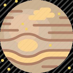 galaxy, gas, jupiter, planet, space, star icon