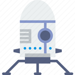 astronaut, lander, moon, nasa, space, spaceship icon