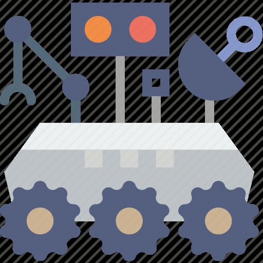 curiosity, exploration, mars, nasa, robot, rover, space icon