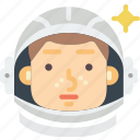 astronaut, gagarin, moon, nasa, russia, space, spaceship icon