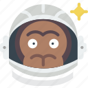 astronaut, experiment, monkey, nasa, orbit, space, spaceship icon