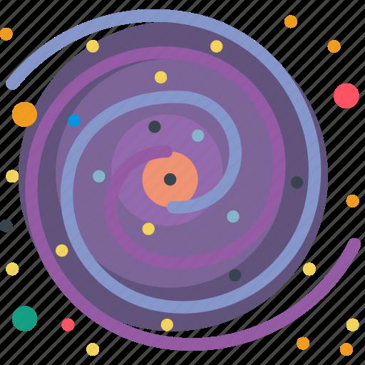 exploration, galaxy, life, milky, space, star, way icon