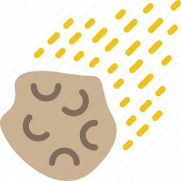 asteroid, calamity, disaster, impact, meteorite, space icon
