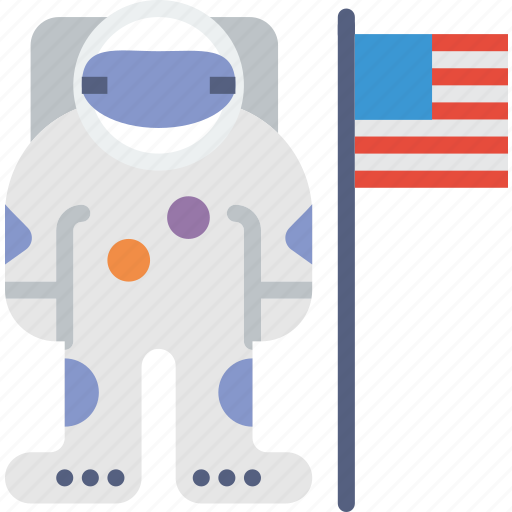 america, armstrong, astronaut, helmet, moon, nasa, neil icon