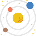 galaxy, life, planets, solar, space, sun, system icon