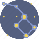 constellation, galaxy, life, minor, sky, star, ursa icon