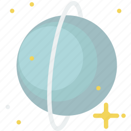 asteroid, galaxy, planet, rings, space, uranus icon
