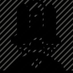houston, launch, moon, nasa, rocket, solid, space icon
