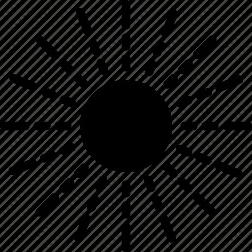 heat, light, solid, space, star, sun icon
