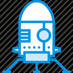 lander, landing, moon, nasa, planet, space, webby icon