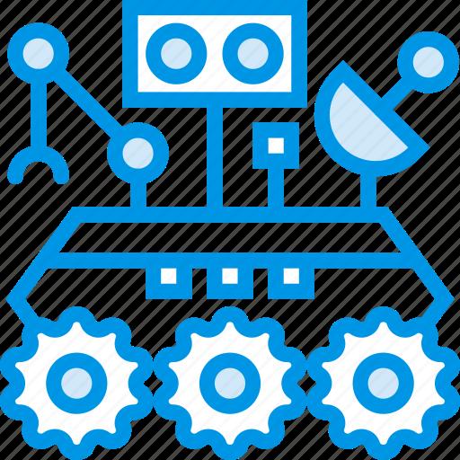 curiosity, exploration, mars, robot, rover, space, webby icon