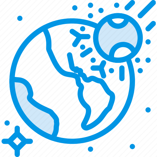 asteroid, disaster, doomsday, impact, meteorite, space, webby icon