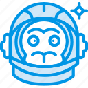 astronaut, experiment, helmet, monkey, space, webby icon