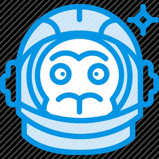 astronaut, experiment, helmet, monkey, space, webby icon