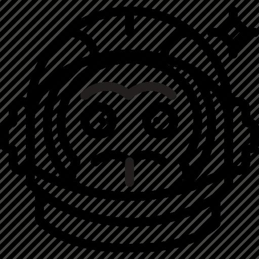 astronaut, experiment, monkey, nasa, space, spaceship icon