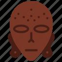 aborginal, mask, sign, symbolism, symbols icon