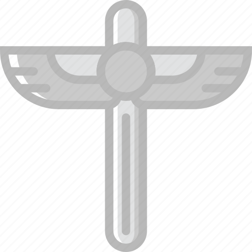 egyptian, scepter, sign, symbolism, symbols icon