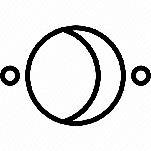crescent, sign, symbolism, symbols, waning icon