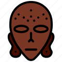 aborginal, mask, sign, symbolism, symbols icon