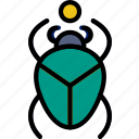 egyptian, scarab, sign, symbolism, symbols icon