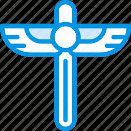 egyptian, scepter, sign, symbolism, symbols icon