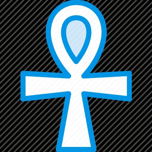 ankh, sign, symbolism, symbols icon