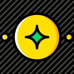 moon, new, sign, symbolism, symbols icon