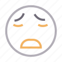 disappointed, emoji, emoticon, face, fearful icon