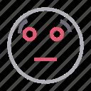 emoji, emoticon, face, flushed, smiley