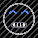 emoji, emoticon, face, grimacing, smiley